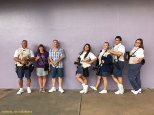 Cast Members love the Purple wall too!