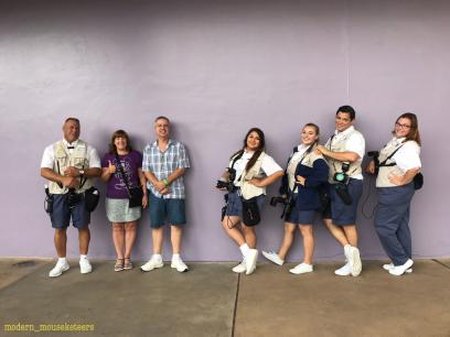 Cast Members love the Purple wall too!
